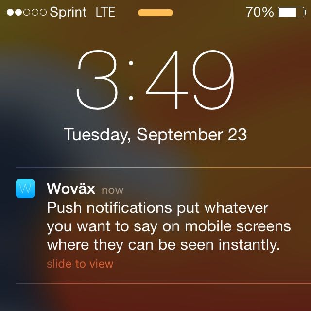 Wovax WordPress Mobile app Push Notifications