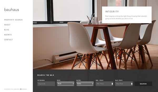Wovax Bauhaus Real Estate WordPress Theme
