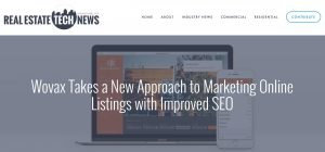 real estate wovax IDX real estate tech news wordpress mobile apps MLS listings IDX website custom mobile apps realtors
